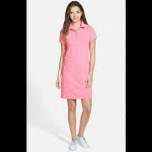 Vineyard Vines Neon Pink Polo Collared Shirt Dress